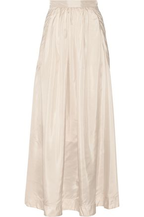 BY MALENE BIRGER Cudy pleated silk maxi skirt