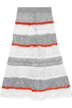 SIBLING Macramé raffia skirt