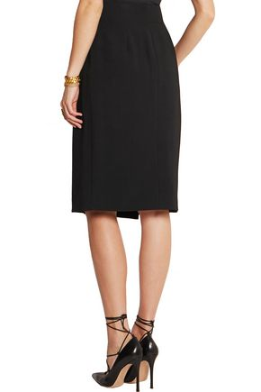 ALEXANDER MCQUEEN Draped stretch-crepe wrap skirt