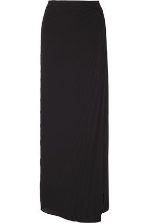 MAISON MARGIELA Pleated chiffon wrap maxi skirt