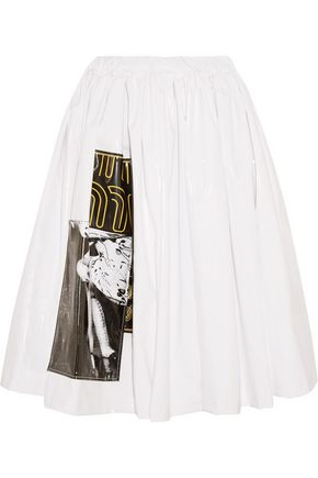 MIU MIU Appliquéd vinyl skirt