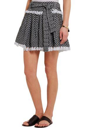 DODO BAR OR Tasseled cotton-gauze mini skirt