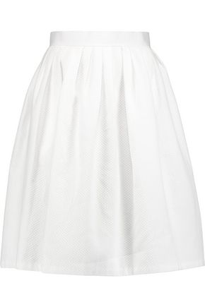 RAOUL Basketweave cotton skirt