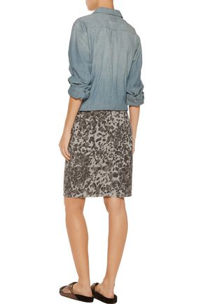 CURRENT/ELLIOTT The Geneva printed stretch-cotton skirt