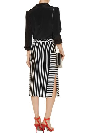 TANYA TAYLOR Camilla stretch jacquard-knit skirt