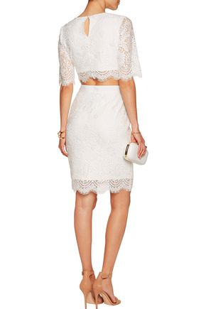 MIGUELINA Scarlett lace skirt