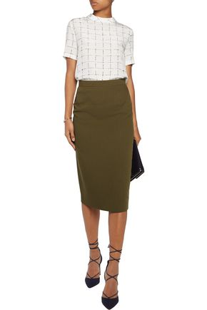 RAOUL Stretch-jersey midi skirt