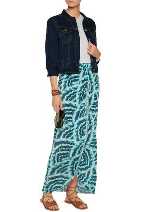 VIX Vilma printed stretch satin-jersey maxi skirt