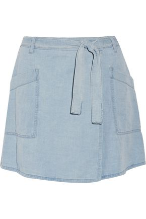 MM6 by MAISON MARGIELA Denim wrap mini skirt