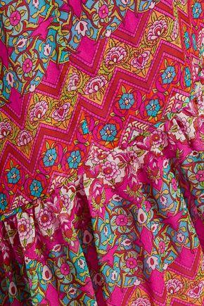 ce396422fd138 ... DIANE VON FURSTENBERG Baylee pleated printed silk maxi skirt ...