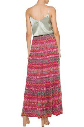 99daacaae8fc4 Baylee pleated printed silk maxi skirt | DIANE VON FURSTENBERG ...