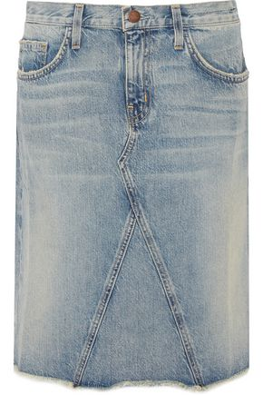 CURRENT/ELLIOTT The Reworked denim skirt