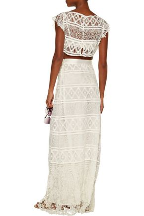 MIGUELINA Asher lace maxi skirt