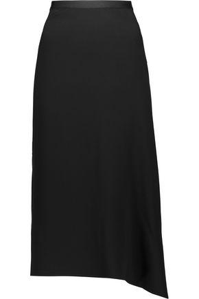 HELMUT LANG Asymmetric draped cady midi skirt