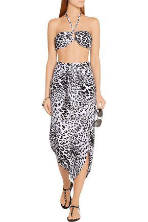 NORMA KAMALI Diaper leopard-print stretch-jersey skirt