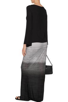 NORMA KAMALI Obie ombré stretch-jersey maxi skirt