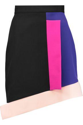 MSGM Layered cotton-blend ponte mini skirt