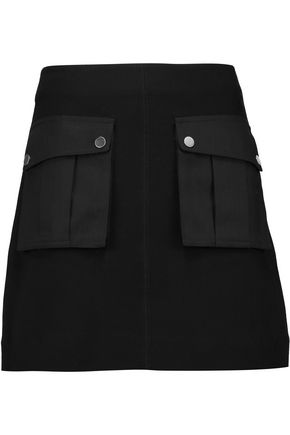 MARC BY MARC JACOBS Twill-paneled cotton-blend mini skirt