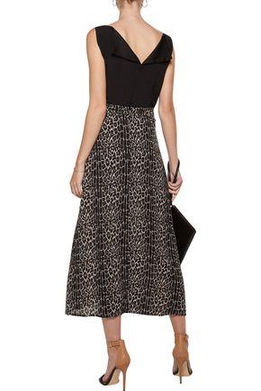 ZIMMERMANN Leopard-print crepe midi skirt