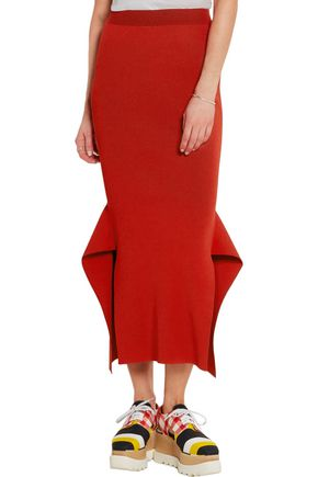 STELLA McCARTNEY Plated-knit skirt