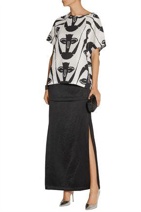 ZERO + MARIA CORNEJO Diba layered satin maxi skirt