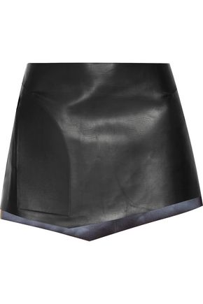 ESTEBAN CORTAZAR Leather mini skirt