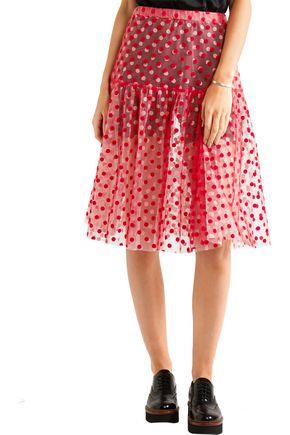 PASKAL Polka-dot flocked tulle skirt