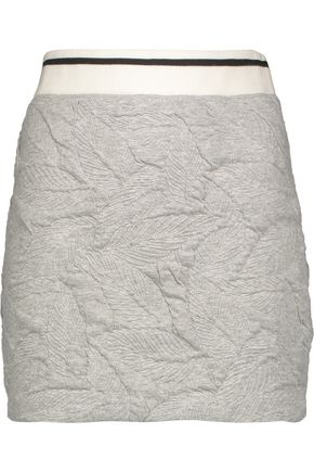 RAG & BONE Textured stretch-jersey mini skirt