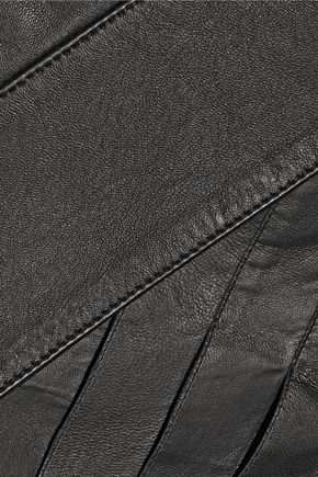 BELSTAFF Beatrix wrap-effect leather skirt
