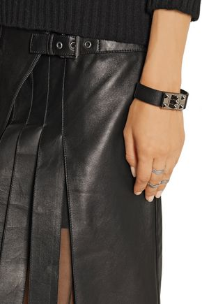 BELSTAFF Beatrix wrap-effect leather skirt