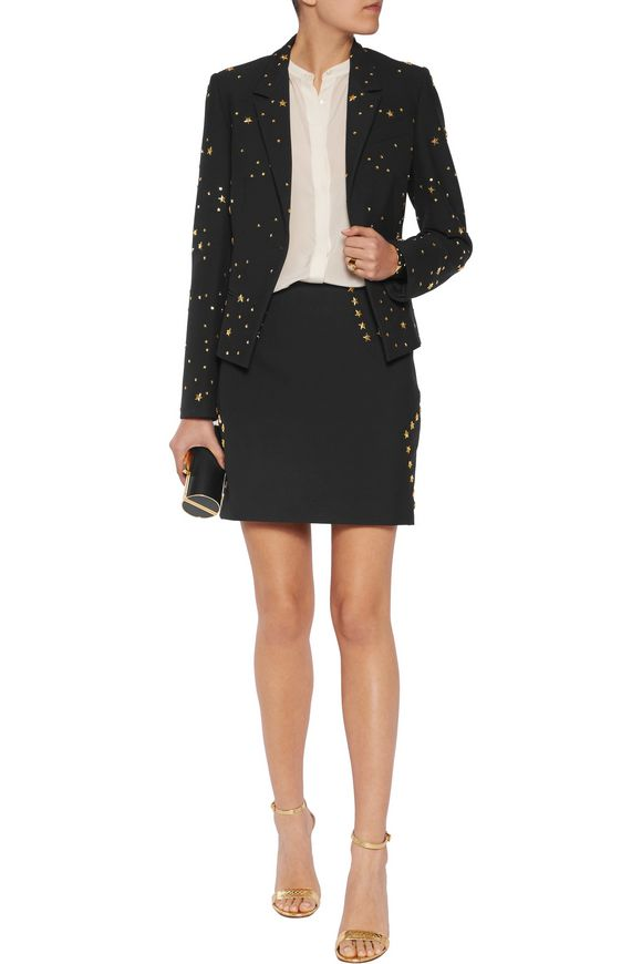 Studded ponte mini skirt | VERSACE COLLECTION | Sale up to 70% off | THE  OUTNET