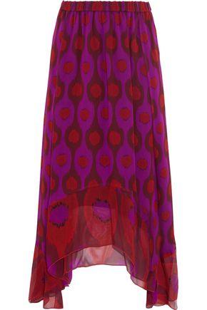 DIANE VON FURSTENBERG Louella printed silk-chiffon midi skirt
