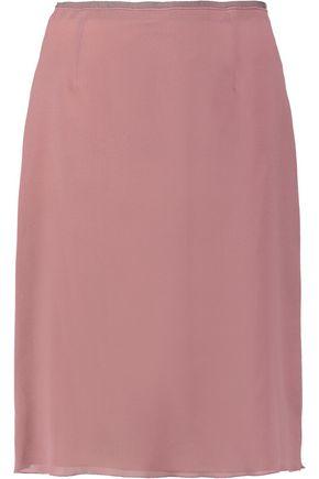 AGNONA Silk-blend crepe pencil skirt