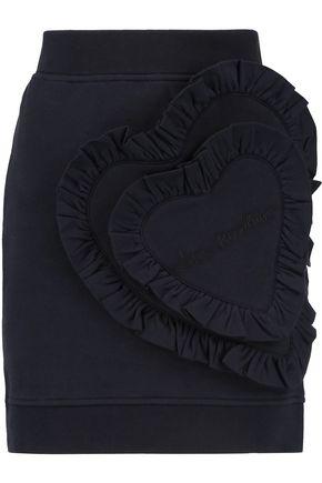 LOVE MOSCHINO Ruffled cotton-blend mini skirt