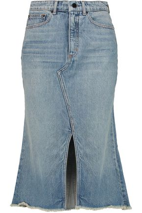 ALEXANDER WANG Denim midi skirt