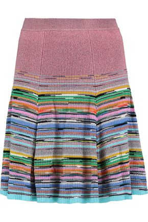 MISSONI Striped ribbed-knit skirt