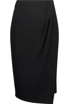 BY MALENE BIRGER Wiss wrap-effect stretch-crepe skirt