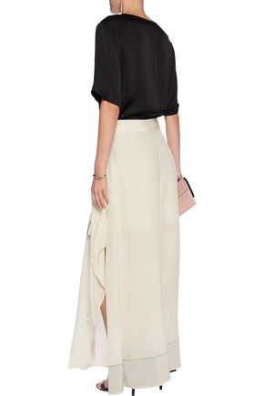 BY MALENE BIRGER Asymmetric silk maxi skirt