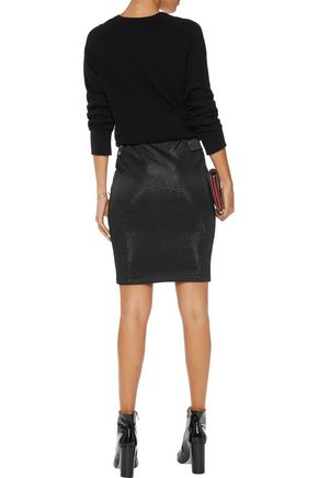 BY MALENE BIRGER Mozilla metallic stretch jersey-crepe skirt