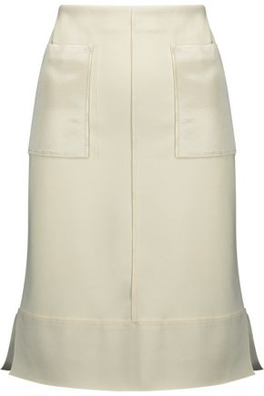 BY MALENE BIRGER Satin-paneled crepe skirt