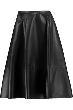 DROMe Leather midi skirt