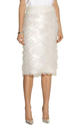 BURBERRY Paillette-embellished crepe midi skirt