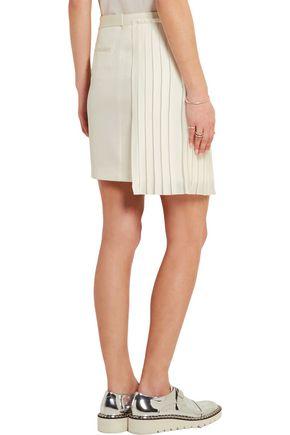 EDUN Silk chiffon-paneled crepe mini skirt