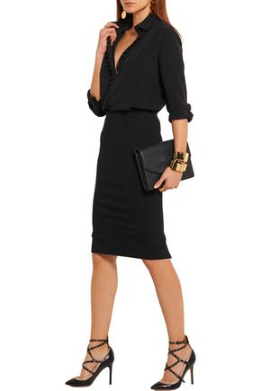 DONNA KARAN Stretch-jersey pencil skirt