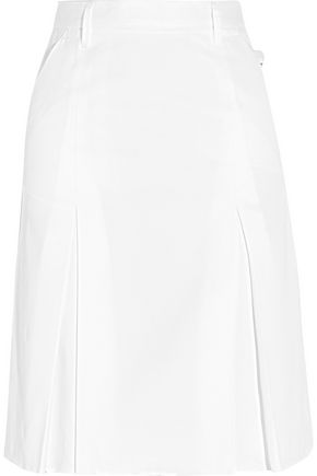 GOLDEN GOOSE DELUXE BRAND Ajla pleated cotton-twill skirt