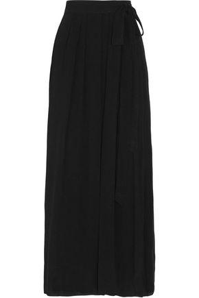 ISABEL MARANT ÉTOILE Kelsey plissé crepe wrap maxi skirt