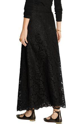 VALENTINO Guipure lace maxi skirt