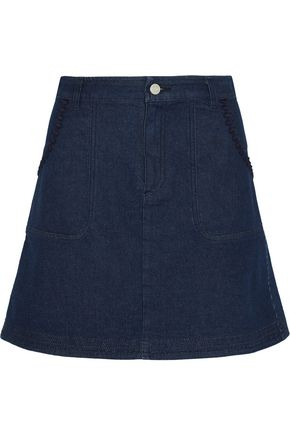 SEE BY CHLOÉ Embroidered denim mini skirt