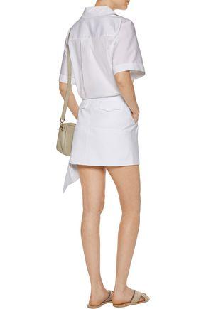 MARISSA WEBB Lily asymmetric cotton-blend mini skirt