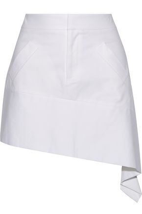 MARISSA WEBB Lily asymmetric cotton-blend mini skirt